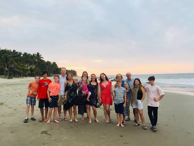Volunteers on the beach in Peru image