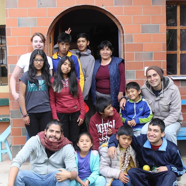 Kids and staff at the Rainbow House image