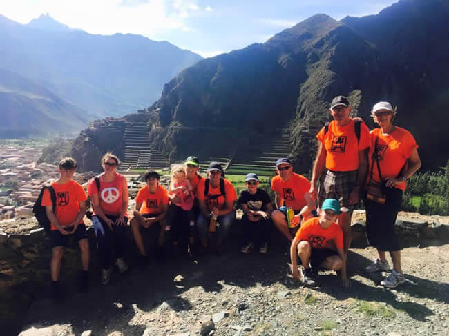 Volunteers at Machu Picchu image