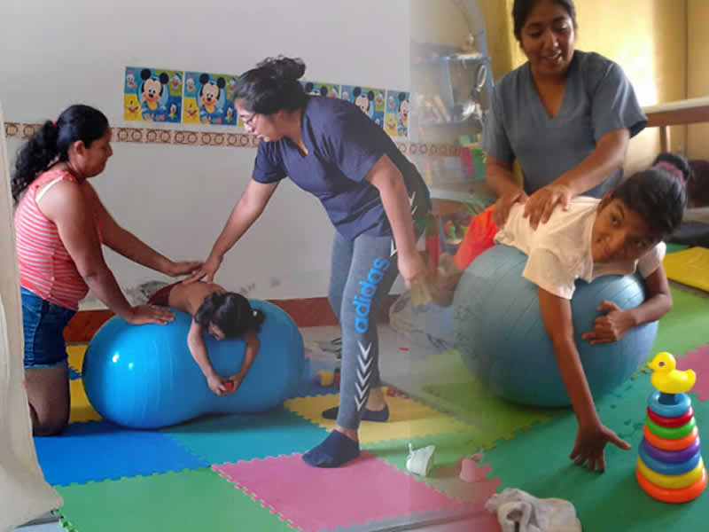 Children receiving therapy image