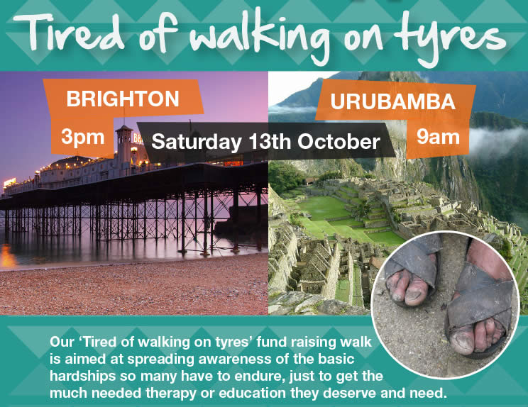 Tired of walking on tyres poster image